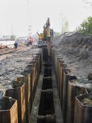 Výstavba podzemního drénu