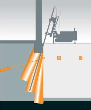 Zapažení výkopu stavební jámy kotvenou stěnou z tryskové injektáže a současné zajištění sousedního objektu